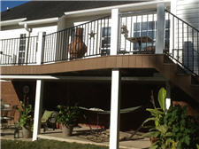 New Deck With Iron Hand Rails