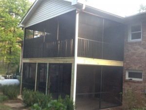 Double Decker Screened in Porch